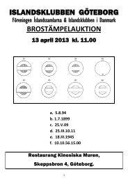 Brostpl AUKTION 2013 Katalog - endast Text - Islandssamlarna