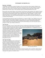 UNIVERSITY OF BOTSWANA - Home