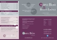 Site Navigation - Simply Bliss Beauty