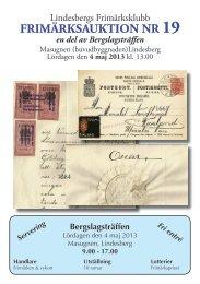 beskrivning objekt - Lindesbergs Frimärksklubb