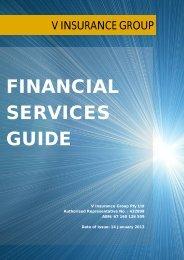 Financial Services Guide - Netball Australia Risk Protection Program