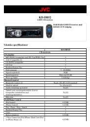 Tekniske specifikationer (pdf) - CARSound Bilstereo
