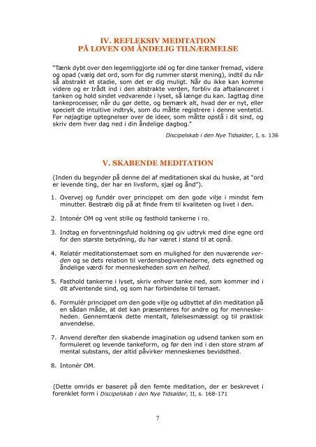 Skabende meditation og esoterisk instruktion (PDF) - Holisticure