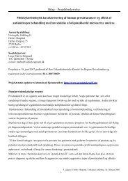 Projektbeskrivelse inkl. referencer - Genetisk analyse af ...