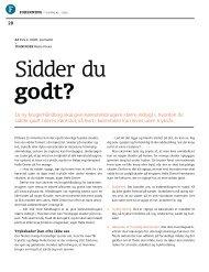 artiklen Sidder du godt? fra Livtag #2 - 2010 - PTU