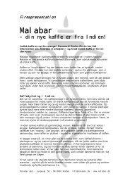 Link til Præsentation af Malabar & vores kaffe (PDF)