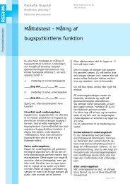 Måltidstest - Måling af bugspytkirtlens funktion - EPIS - Gentofte ...