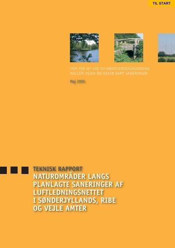 Naturområder langs planlagte saneringer af luftledningsnettet i ...