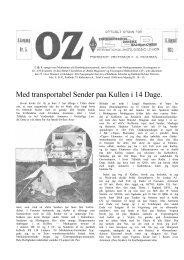 Med transportabel Sender paa Kullen i 14 Dage. - Søg i OZ