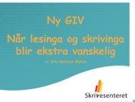 Ny GIV - Lesesenteret