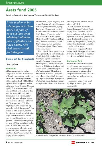 Årets fund 2005 - Dansk Botanisk Forening