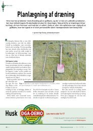 Planlægning af dræning Husk - Turfgrass