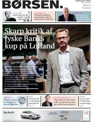 Skrap kritik af Jyske Banks kup på Lolland - Dansk Formue ...