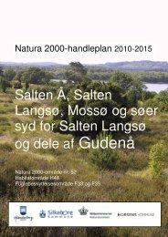 Salten Å, Salten Langsø, Mossø og søer syd for Salten Langsø og ...
