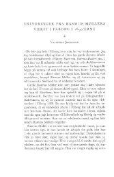 ERINDRINGER FRA RASMUS MØLLERS VÆRFT I FÅBORG I 1890 ...