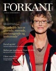 Forkant_2008_01 - Dansk Sygeplejeråd