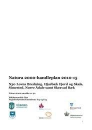 Natura 2000-handleplan 2010-15 N30 Lovns Bredning ... - Skive.dk