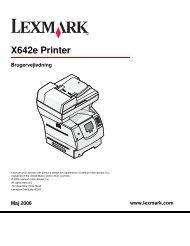 Brugervejledning - Lexmark