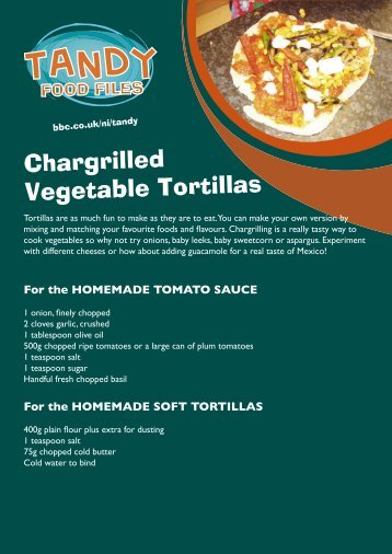 Chargrilled Vegetable Tortillas - BBC