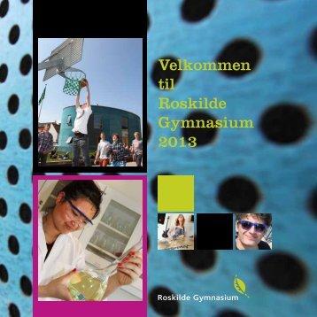 Velkommen til Roskilde Gymnasium 2013