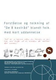 """Forståelse og tolkning af """"De 8 kostråd"""" blandt folk ... - Altomkost.dk"""
