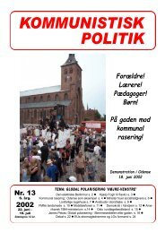 KP13, 2002 - Kommunistisk Politik