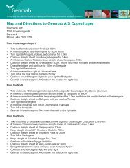 Map and Directions to Genmab A/S Copenhagen