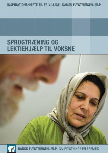 Sprogtræning og lektiehjælp til voksne.pdf - Frivillignet.dk
