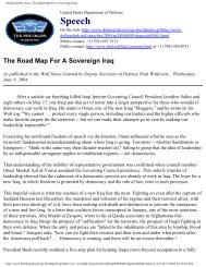DefenseLINK News: The Road Map For A Sovereign Iraq - MERLN