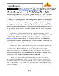 View the Whole Wheat Flour Tortillas Press Release - Mission Foods