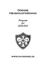 Program for 2010/2011 - Odense Højskoleforening