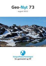 Geo-Nyt 73 - Geografilærerforeningen
