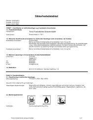 Sikkerhedsdatablad - Trinol A/S