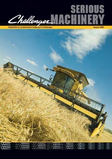 Tidsskriftet for professionelt landbrug fra Challenger August 2008