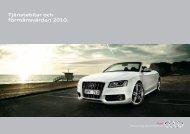 Broschyr Audi Tjänstebil