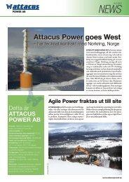 Läs hela nyhetsbrevet nr 2, 2013 - Attacus Power AB