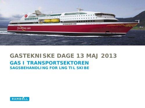 Sagsbehandling for LNG til skibe