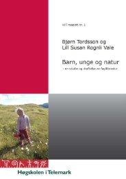 en studie og drøftelse - TEORA - Høgskolen i Telemark