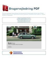 Brugsanvisning SKODA OCTAVIA - BRUGERVEJLEDNING