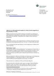 læs afgørelse om ikke godkendelsespligt for ... - Miljøstyrelsen