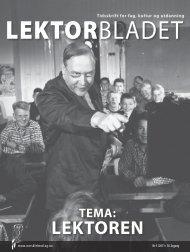 LEKTOREN - Norsk Lektorlag