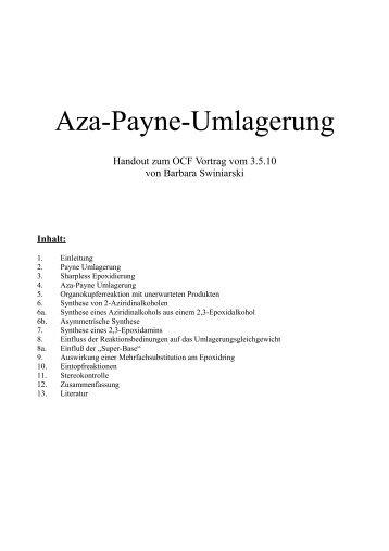 Aza-Payne-Umlagerung, Barbara Swiniarski, 03.05.10