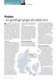 Pirolen - Dansk Ornitologisk Forening