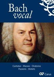 Cantatas · Masses · Oratorios Passions · Motets