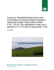 Instruks for Plantedirektoratets kontrol med ... - LandbrugsInfo