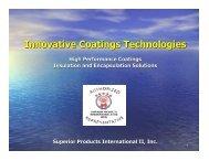 SPI PP Presentation - Innovative Coatings Technologies