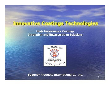 SPI PP Presentation - Innovative Coatings Technologies