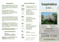 Inspirationsfolder FORÅR 2009.indd - Center for levende visdom