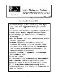 Nabis Rundbrief Sommer 2006 - NABIS e.V.