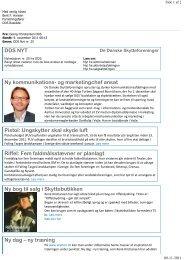 DDS Nyhedsbrev nr. 25 - Roskilde Amts Skytteforening